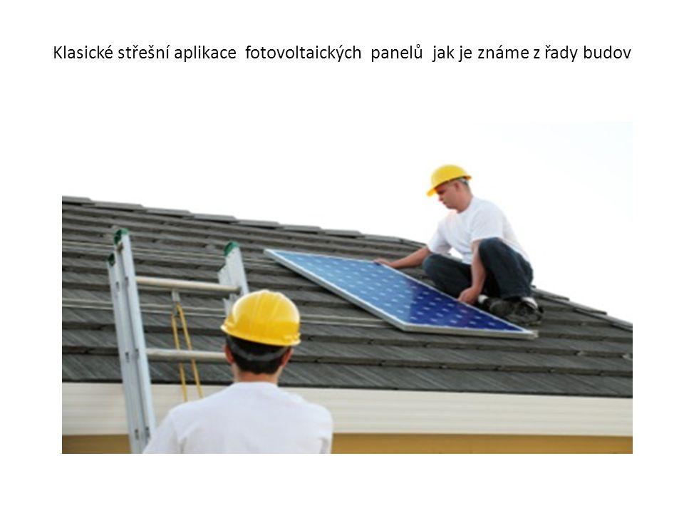 Dnes již klasický a hojně používaný systém střešních aplikací s malými FVE elektrárnami, kdy část vyrobené energie spotřebuje dům, část se prodává do distribuční sítě.