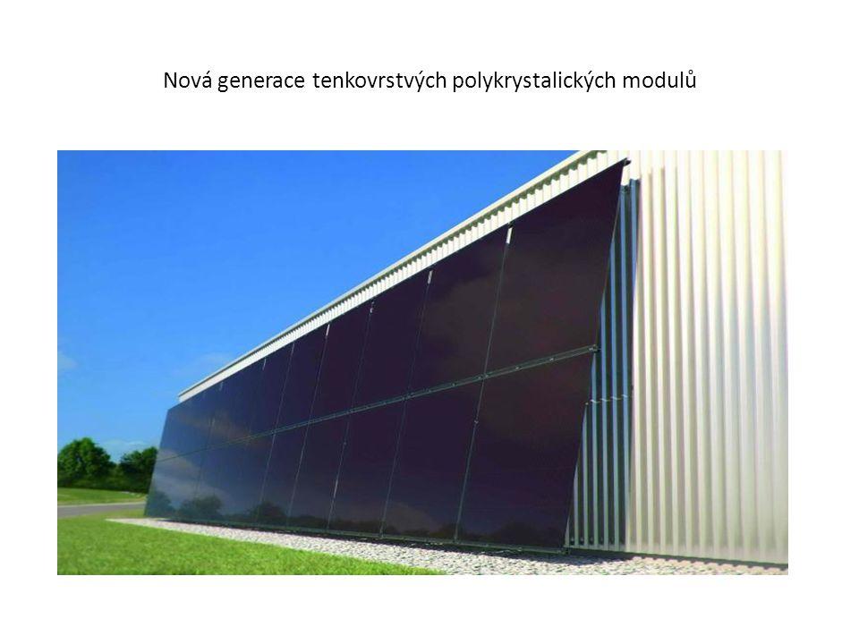 Fasádní tenkovrstvé moduly