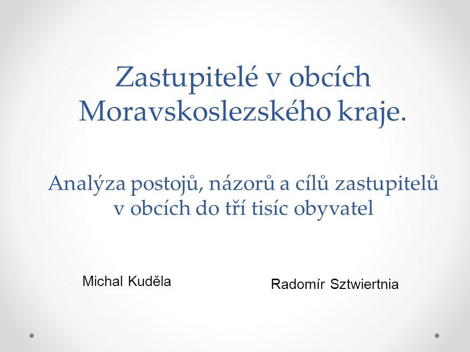 Zastupitelé v obcích Moravskoslezského kraje.