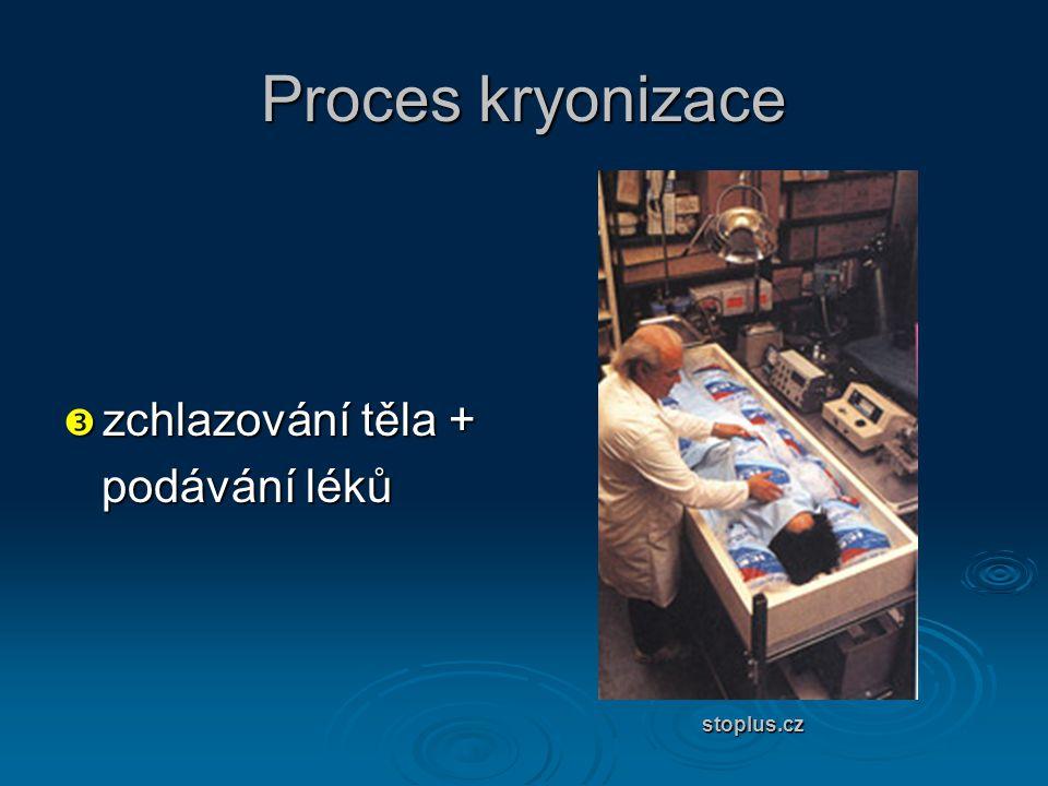 Proces kryonizace  zchlazování těla + podávání léků podávání léků stoplus.cz