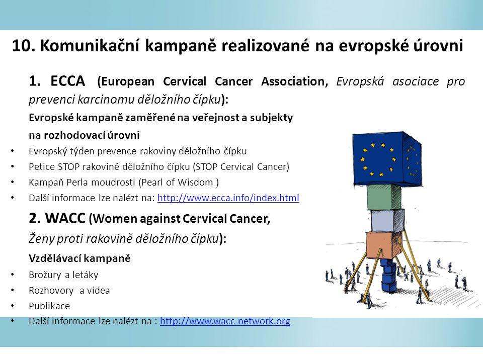 10. Komunikační kampaně realizované na evropské úrovni 1.