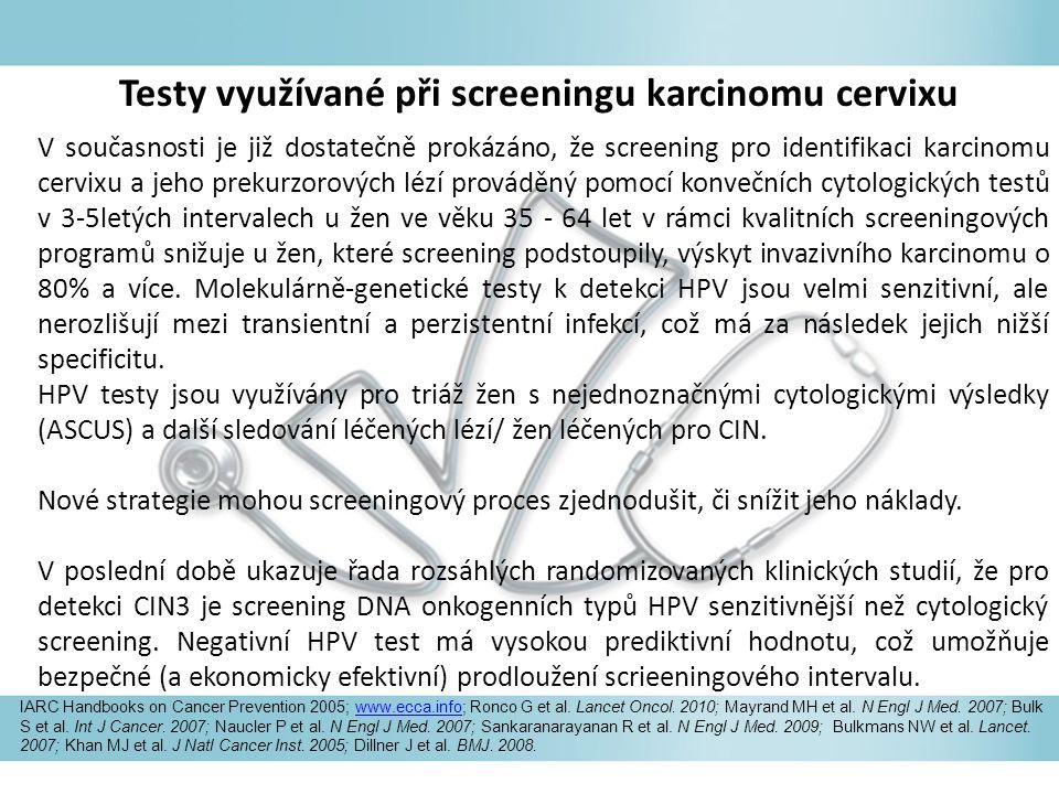 V současnosti je již dostatečně prokázáno, že screening pro identifikaci karcinomu cervixu a jeho prekurzorových lézí prováděný pomocí konvečních cyto