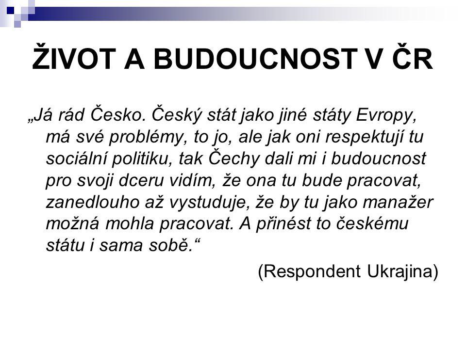 """ŽIVOT A BUDOUCNOST V ČR """"Já rád Česko."""
