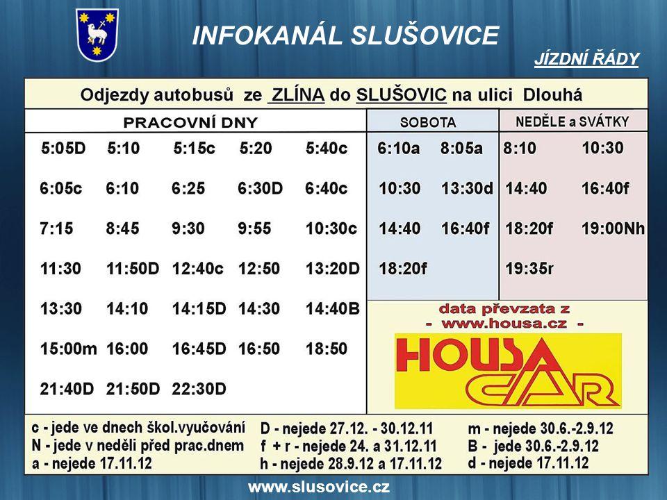 www.slusovice.cz Oznámení o přerušení dodávky elektrické energie Dne 30. 4. 2012 od 09:00 do 10:30 bude přerušena dodávka elektrické energie: Vypnutá