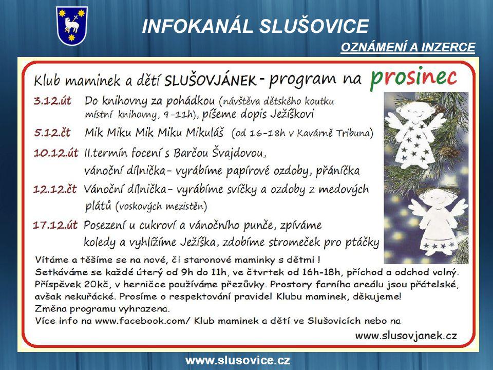www.slusovice.cz OZNÁMENÍ A INZERCE -