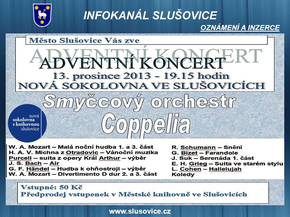 www.slusovice.cz OZNÁMENÍ A INZERCE
