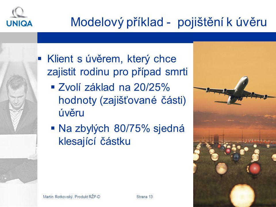Martin Rotkovský, Produkt RŽP-D Strana 14 Průběh pojistné ochrany k úvěru