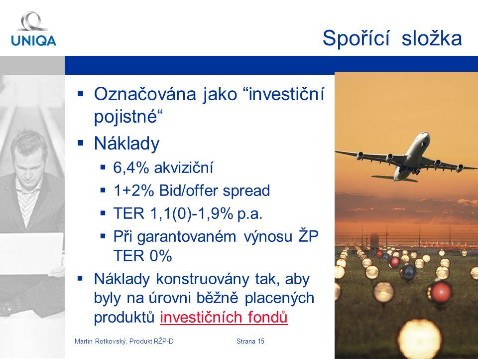 Martin Rotkovský, Produkt RŽP-D Strana 16 Investplan