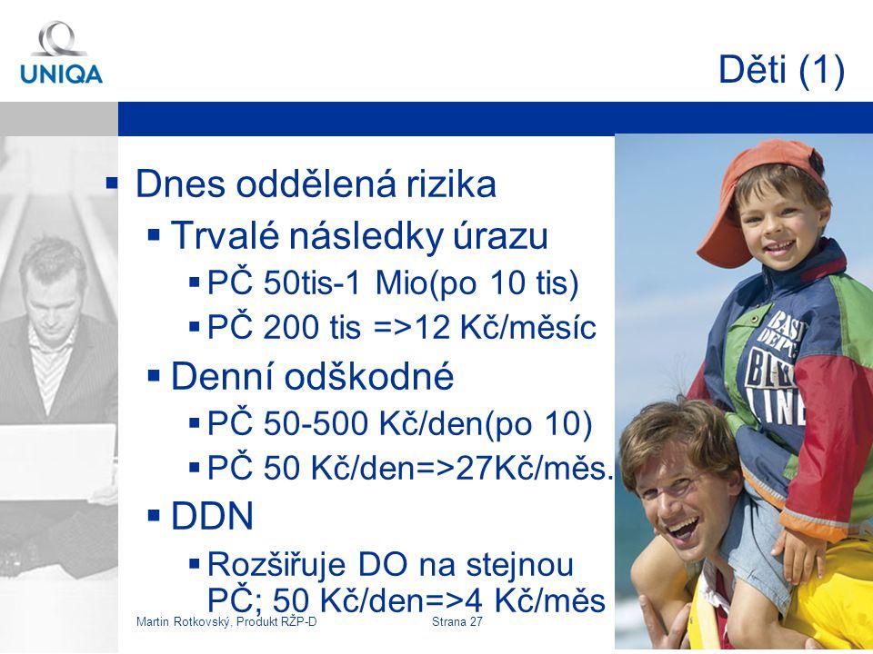 Martin Rotkovský, Produkt RŽP-D Strana 28 Děti (2)  VZO –speciální dětské  1.