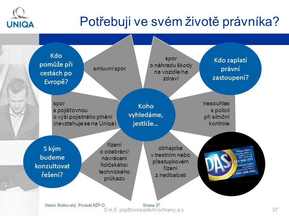 Martin Rotkovský, Produkt RŽP-D Strana 38 D.A.S.