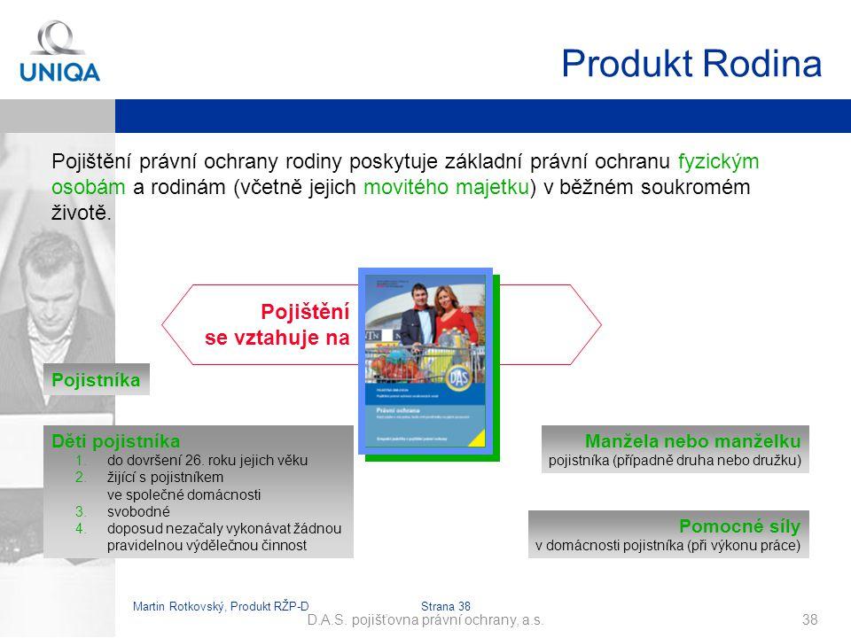 Martin Rotkovský, Produkt RŽP-D Strana 39 D.A.S.