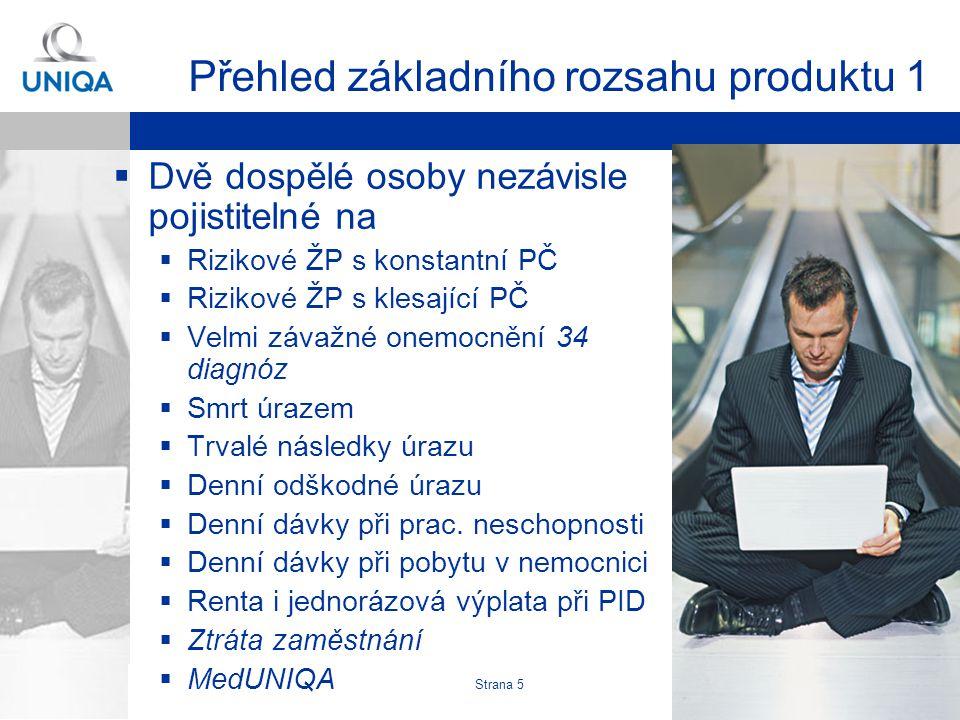 Martin Rotkovský, Produkt RŽP-D Strana 6 Přehled základního rozsahu produktu 2  Zproštění od placení při PID  Rodinné poj.
