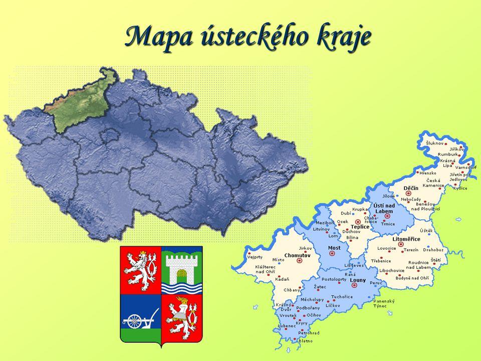 Mapa ústeckého kraje