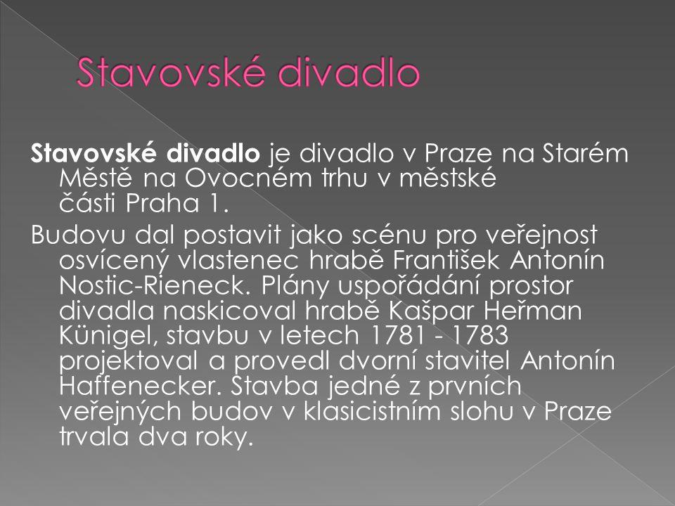 Stavovské divadlo je divadlo v Praze na Starém Městě na Ovocném trhu v městské části Praha 1.