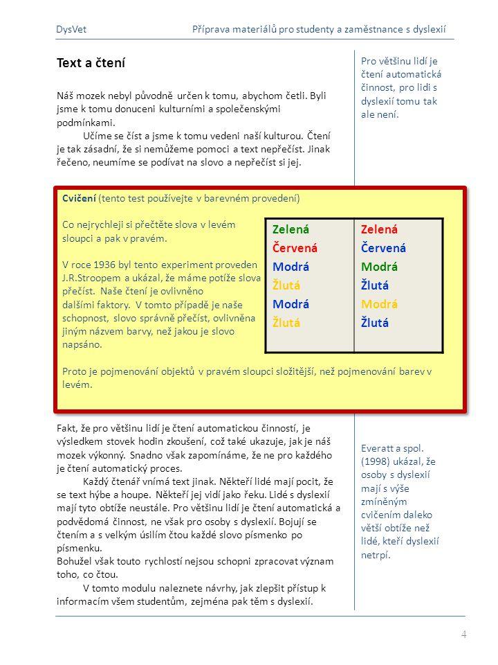 Klíčové body Co je dobré pro osoby s dyslexií, je dobré pro všechny.