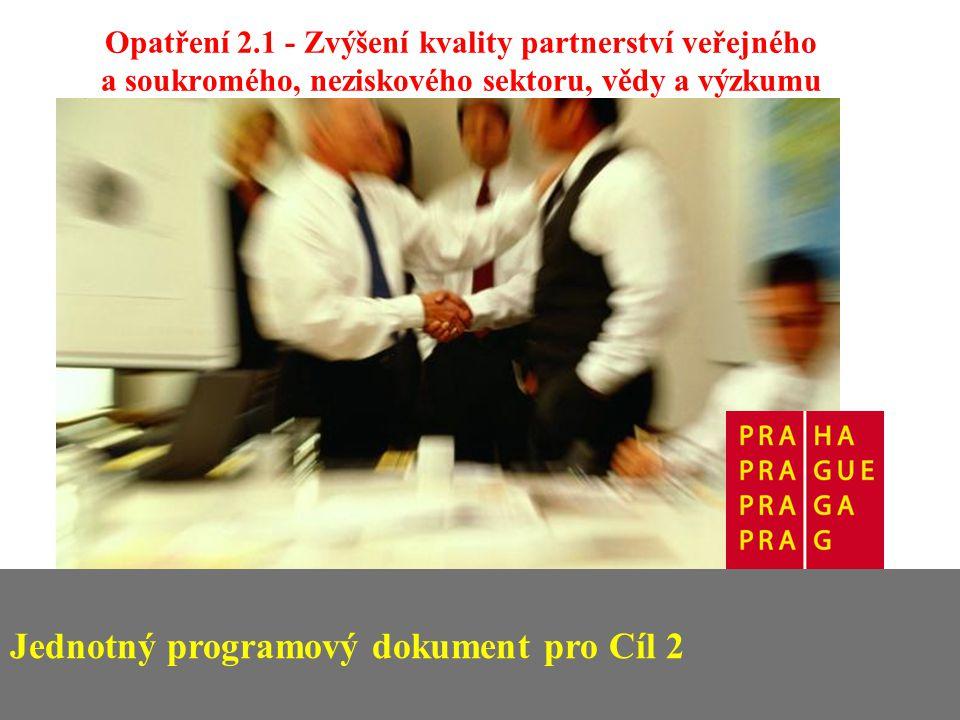 Opatření 2.1 - Zvýšení kvality partnerství veřejného a soukromého, neziskového sektoru, vědy a výzkumu