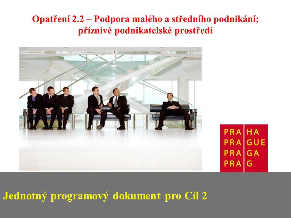 Jednotný programový dokument pro Cíl 2 Opatření 2.2 – Podpora malého a středního podnikání; příznivé podnikatelské prostředí