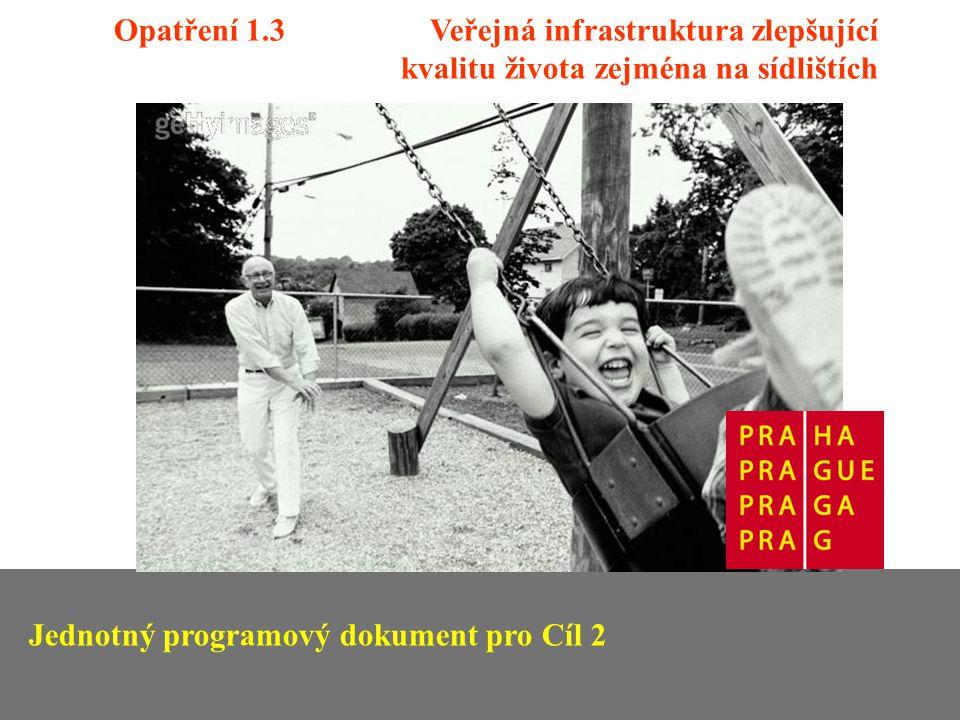 Opatření 1.3 Veřejná infrastruktura zlepšující kvalitu života zejména na sídlištích Jednotný programový dokument pro Cíl 2
