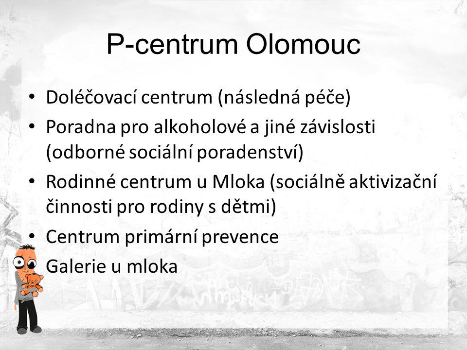Spolupracující subjekty Foundation 66, London Sdružení Podané ruce, Olomouc Středisko sekundární prevence, Vojenská nemocnice, Olomouc