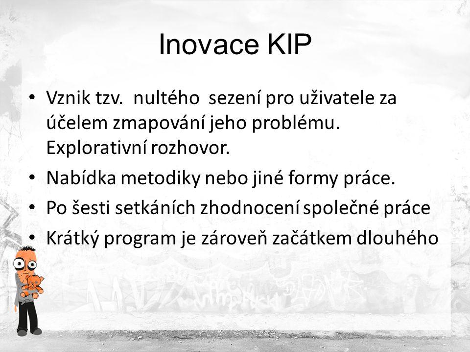 Inovace KIP Sezení jsou takové, aby byla metodika spojena s klasickou terapií: tzn.