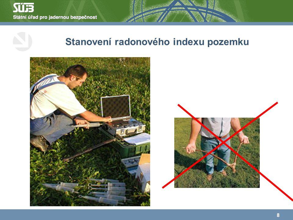 Stanovení radonového indexu pozemku 8