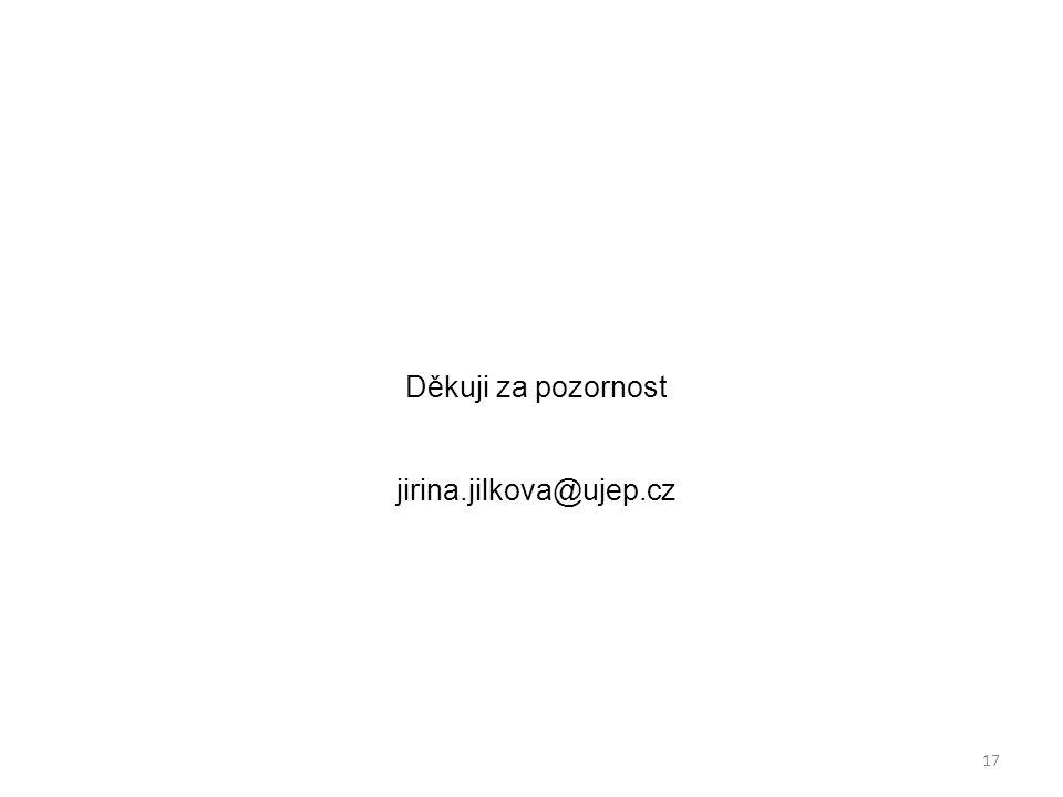 Děkuji za pozornost jirina.jilkova@ujep.cz 17