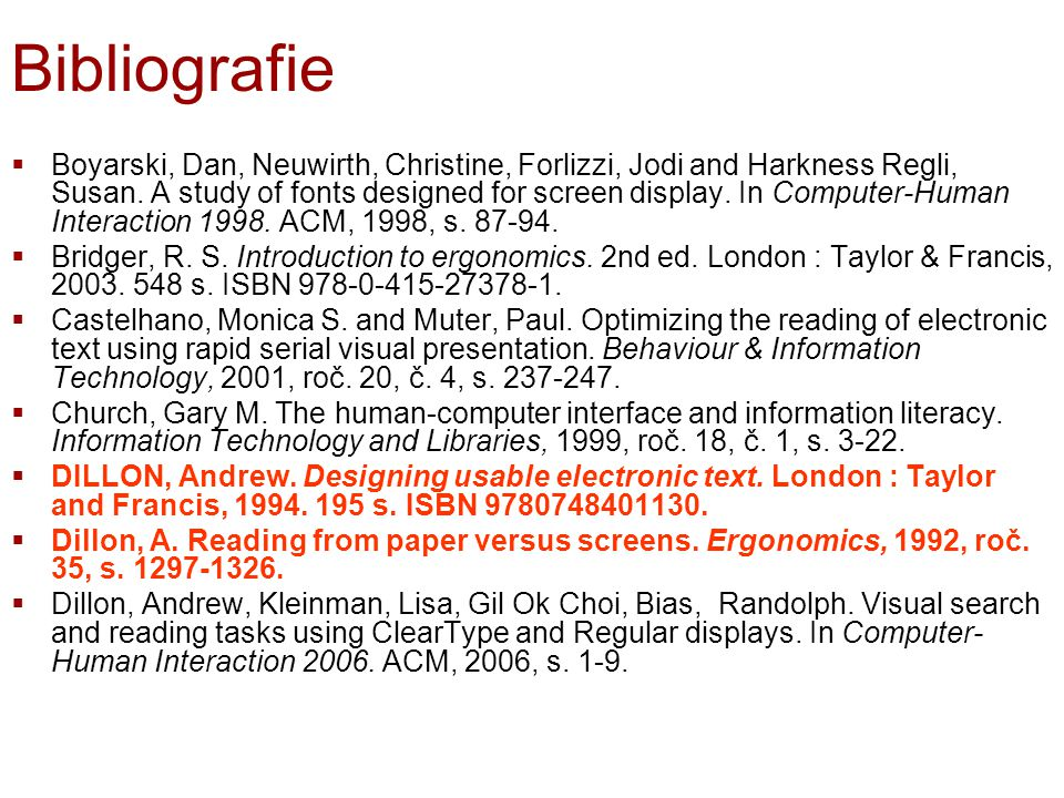 Bibliografie  Boyarski, Dan, Neuwirth, Christine, Forlizzi, Jodi and Harkness Regli, Susan.