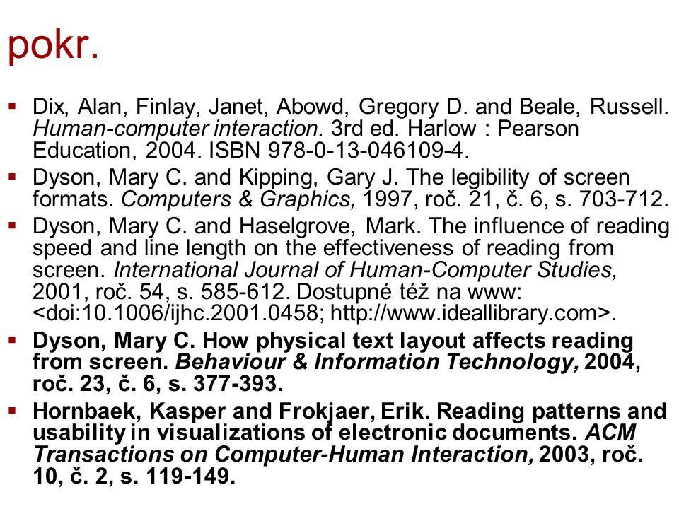 pokr. Dix, Alan, Finlay, Janet, Abowd, Gregory D.