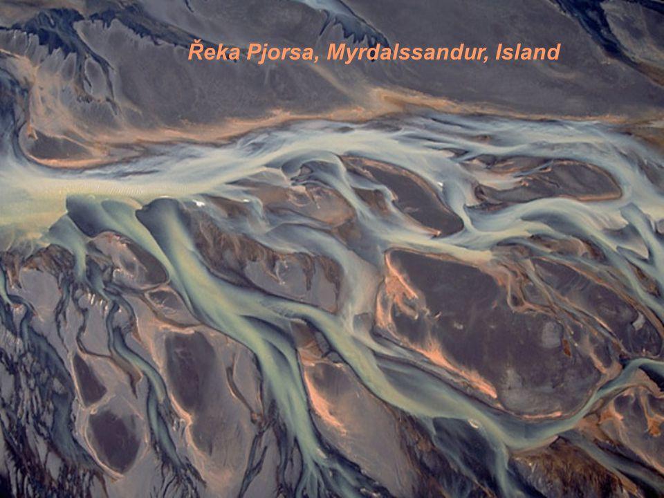 Řeka Pjorsa, Myrdalssandur, Island