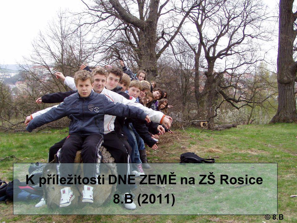 K příležitosti DNE ZEMĚ na ZŠ Rosice 8.B (2011) © 8.B