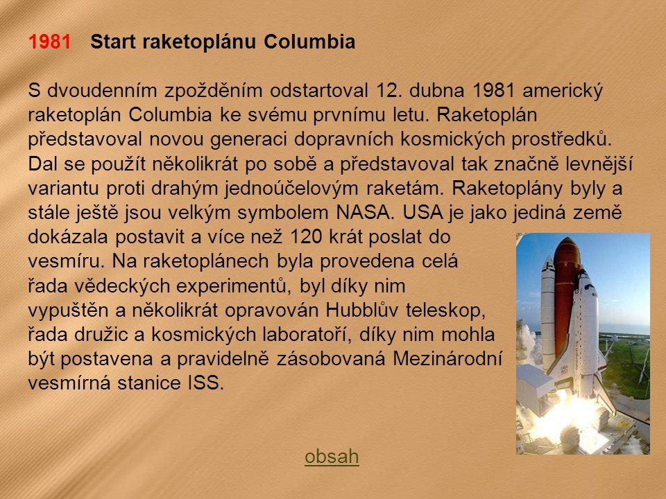 1981 Start raketoplánu Columbia S dvoudenním zpožděním odstartoval 12.