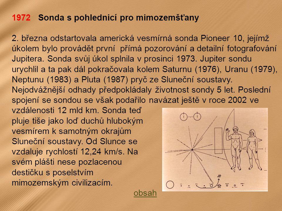 1972 Sonda s pohlednicí pro mimozemšťany 2.