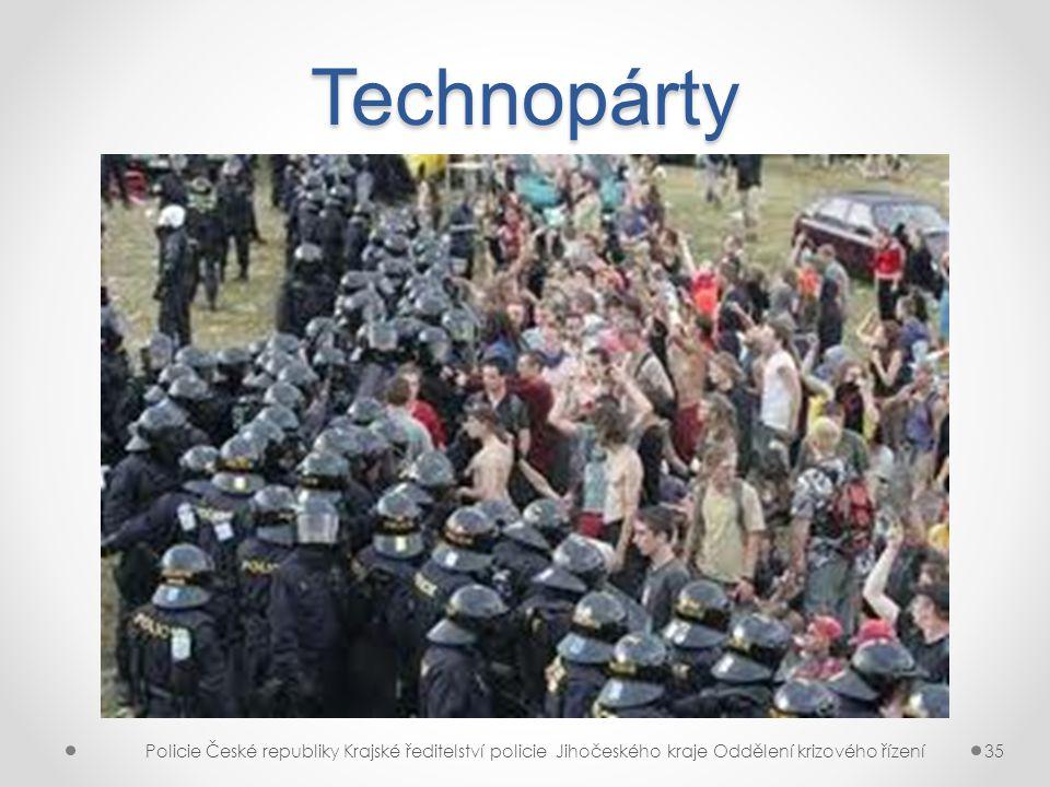 Technopárty Policie České republiky Krajské ředitelství policie Jihočeského kraje Oddělení krizového řízení35