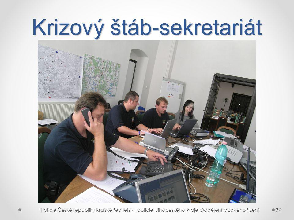 Krizový štáb-sekretariát Policie České republiky Krajské ředitelství policie Jihočeského kraje Oddělení krizového řízení37