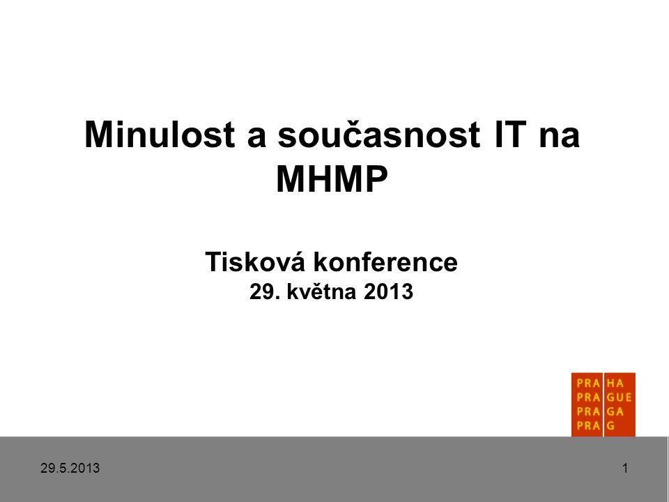 Minulost a současnost IT na MHMP Tisková konference 29. května 2013 29.5.20131