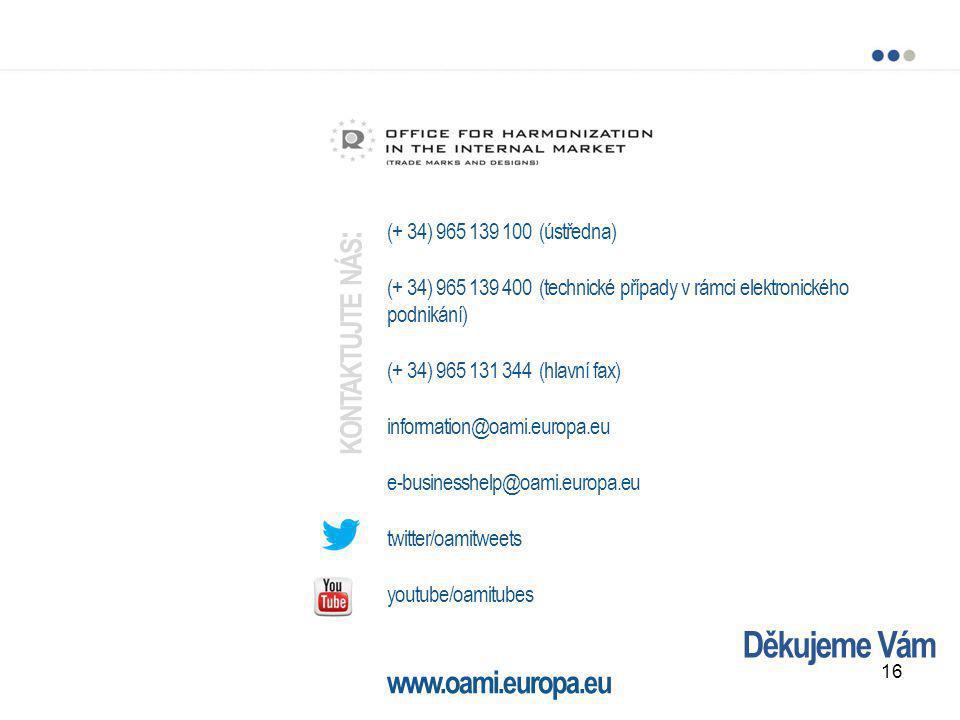 Děkujeme Vám (+ 34) 965 139 100 (ústředna) (+ 34) 965 139 400 (technické případy v rámci elektronického podnikání) (+ 34) 965 131 344 (hlavní fax) inf