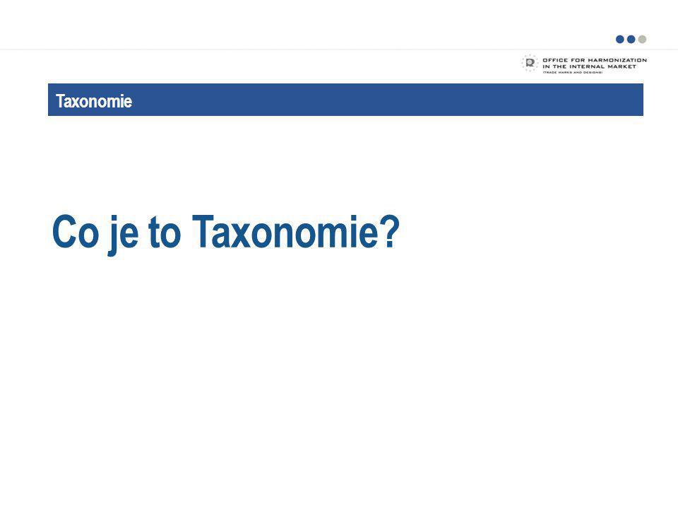 Taxonomie Účel