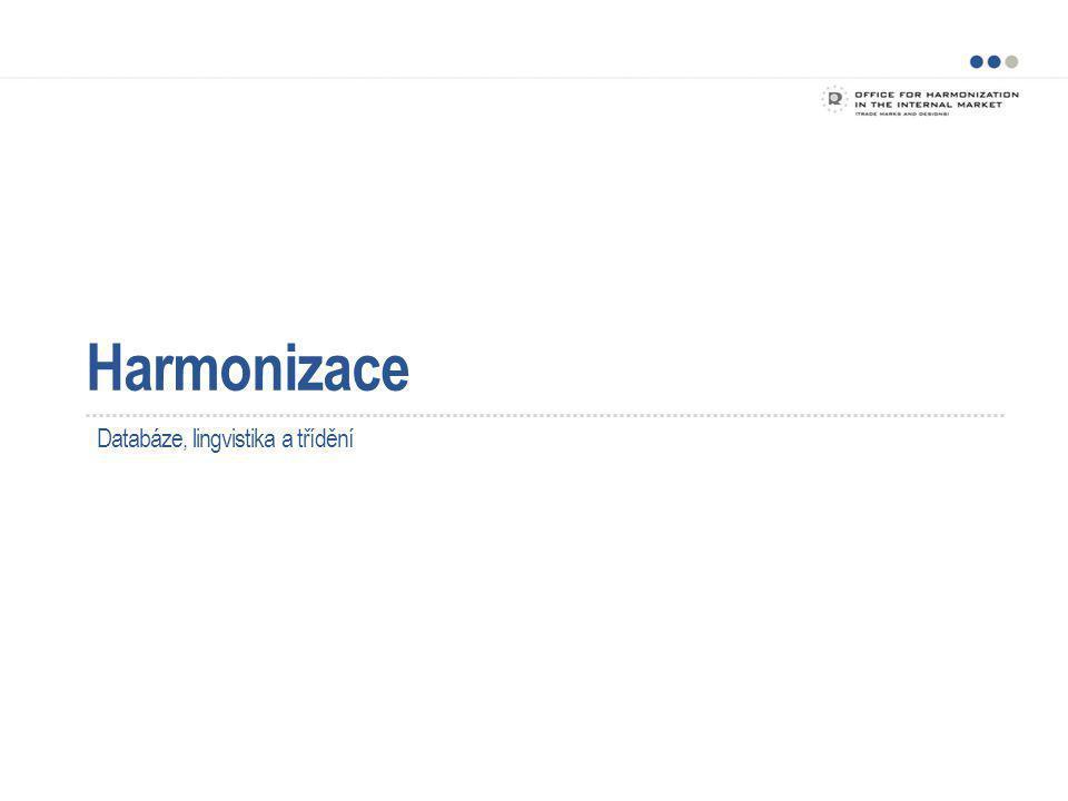 Harmonizace Projekt HARMONIZACE OHIM, Spojené království a Švédsko – původní řídící skupina Rozšířená o Německo a organizaci WIPO jako pozorovatele Angličtina jako základní jazyk 5
