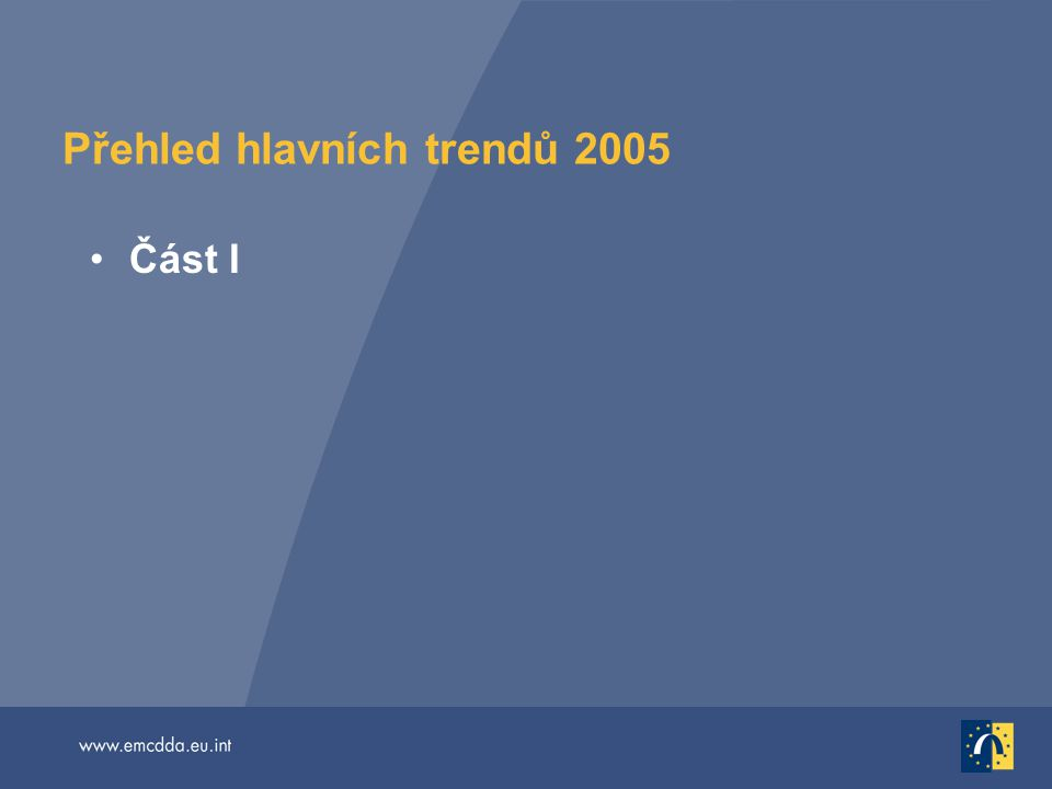 Přehled hlavních trendů 2005 Část I