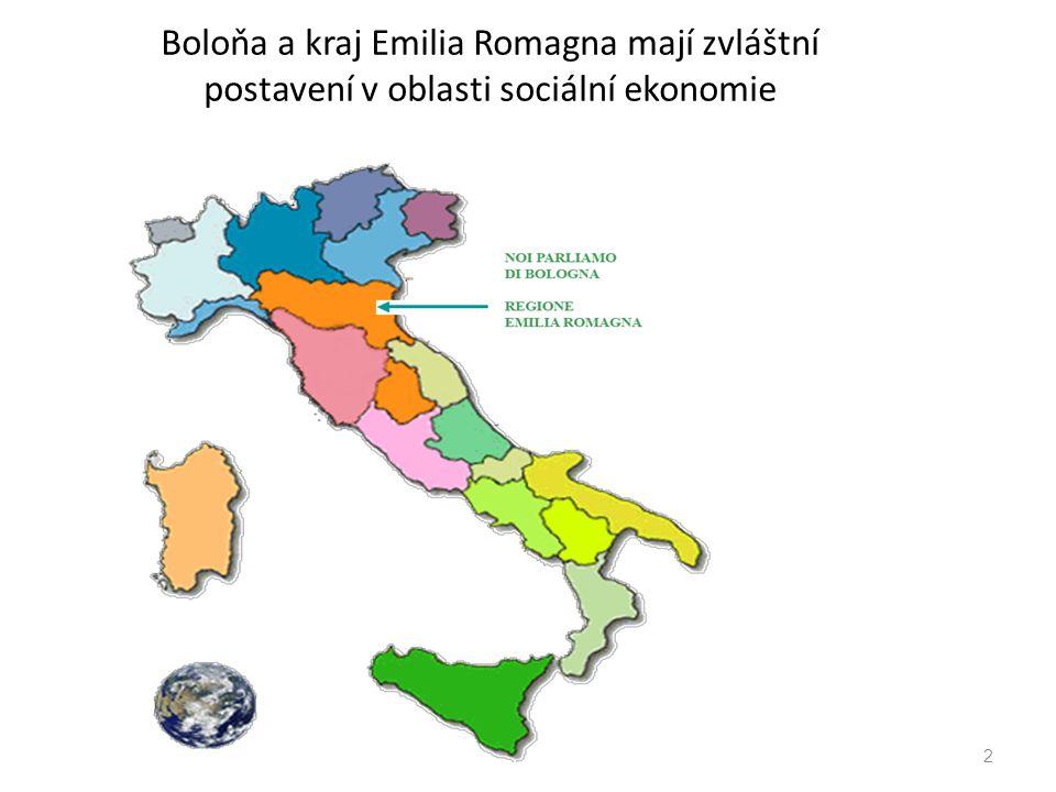 Boloňa a kraj Emilia Romagna mají zvláštní postavení v oblasti sociální ekonomie 2