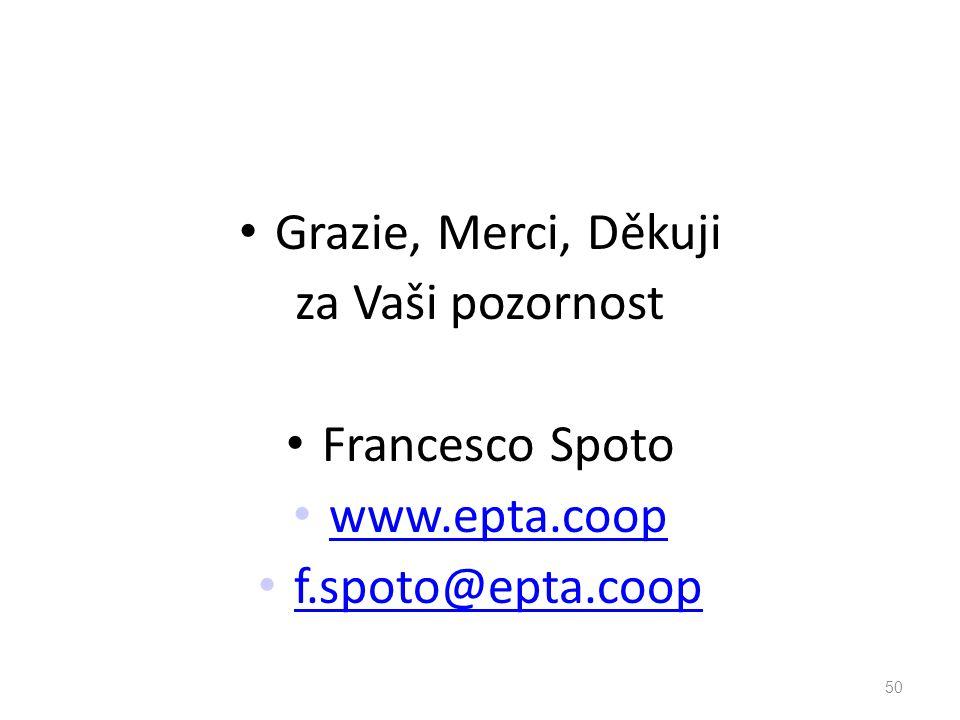 Grazie, Merci, Děkuji za Vaši pozornost Francesco Spoto www.epta.coop f.spoto@epta.coop 50