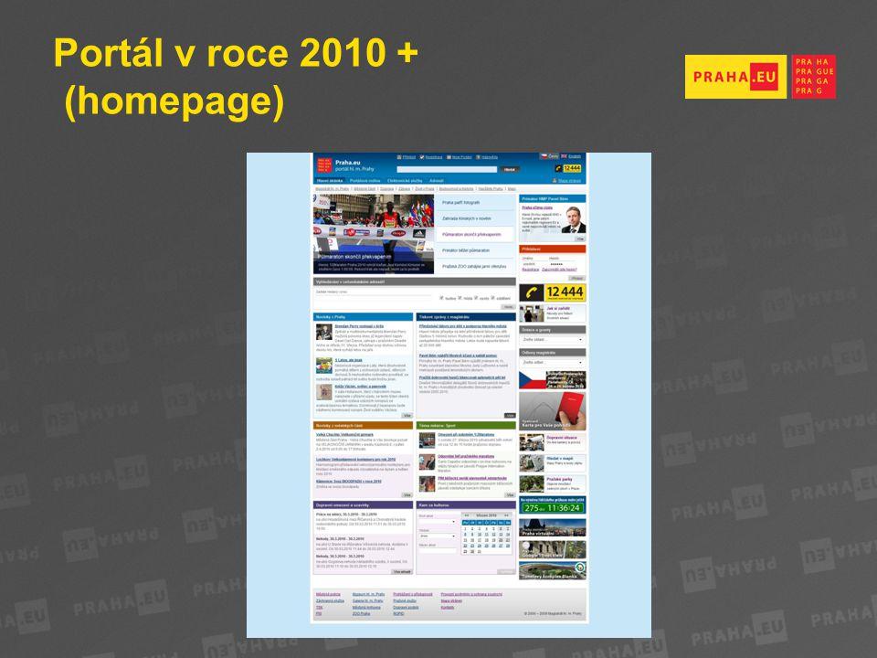 Portál v roce 2010 + (homepage)