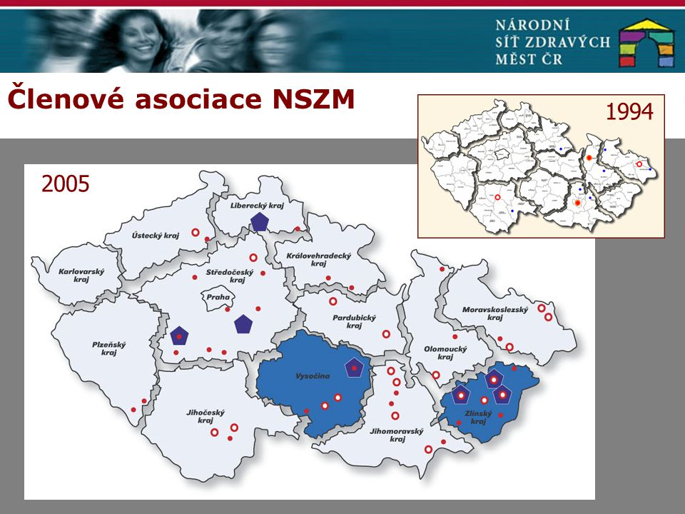 Členové asociace NSZM 2005 1994