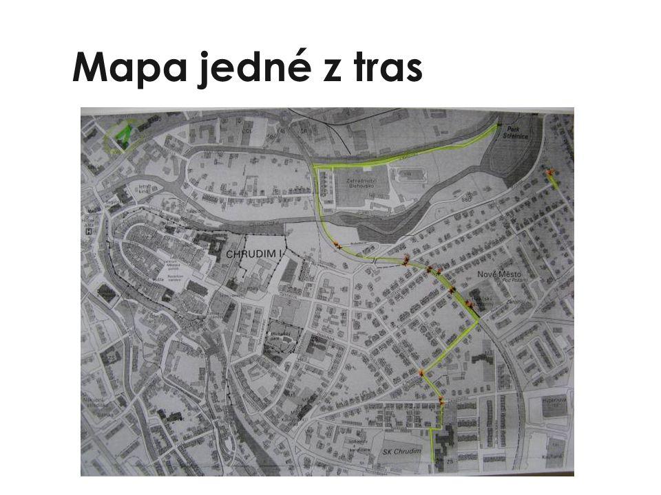 Mapa jedné z tras