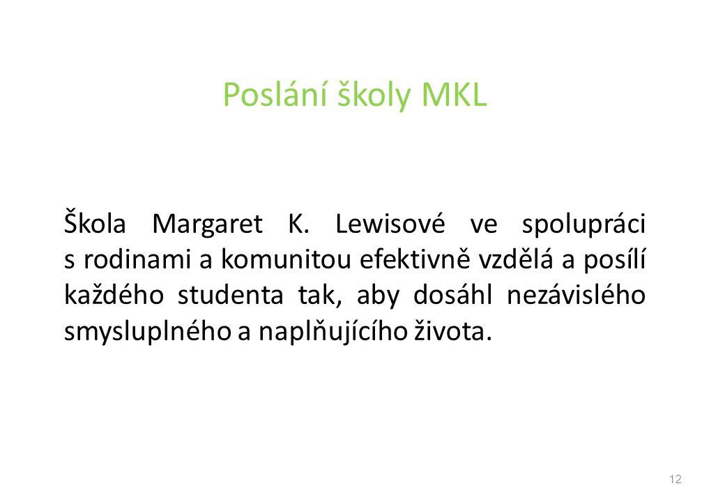 Poslání školy MKL Škola Margaret K.