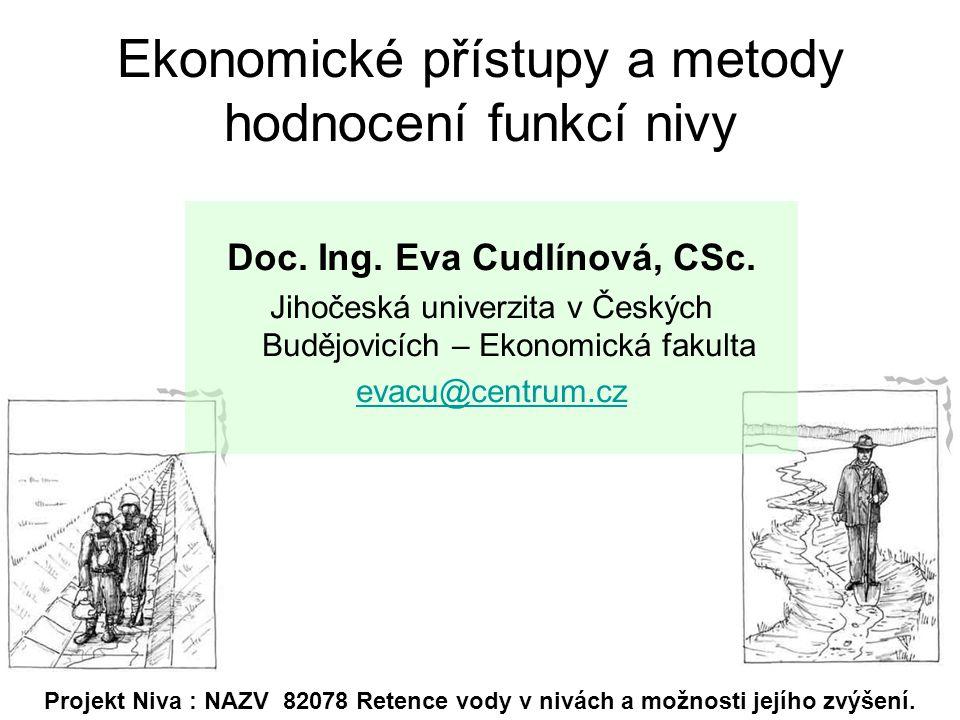 Ekonomické přístupy a metody hodnocení funkcí nivy Doc.