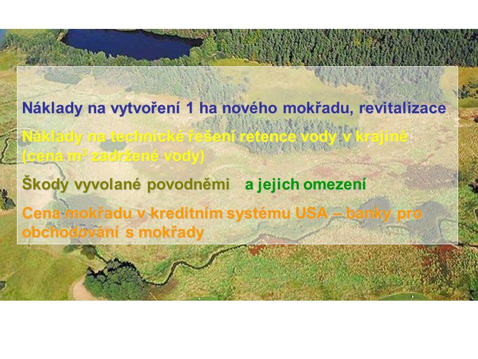 Doporučené ceny - ČR Ceny revitalizací doporučené podle Směrnice MŽP č.