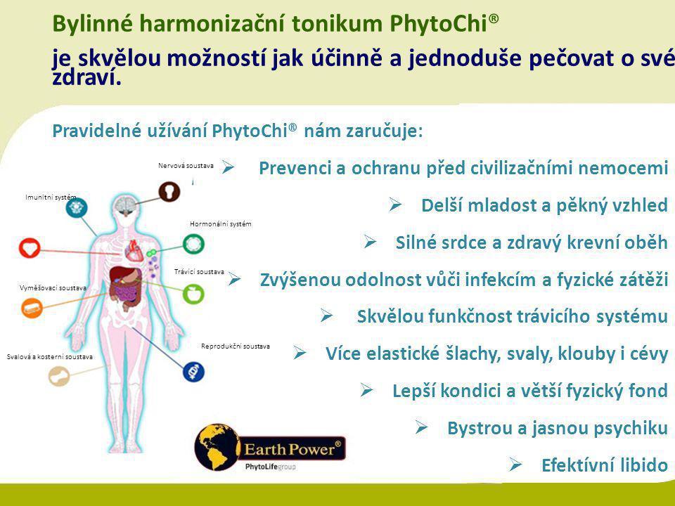 Bylinné harmonizační tonikum PhytoChi® je skvělou možností jak účinně a jednoduše pečovat o své zdraví. Pravidelné užívání PhytoChi® nám zaručuje:  P