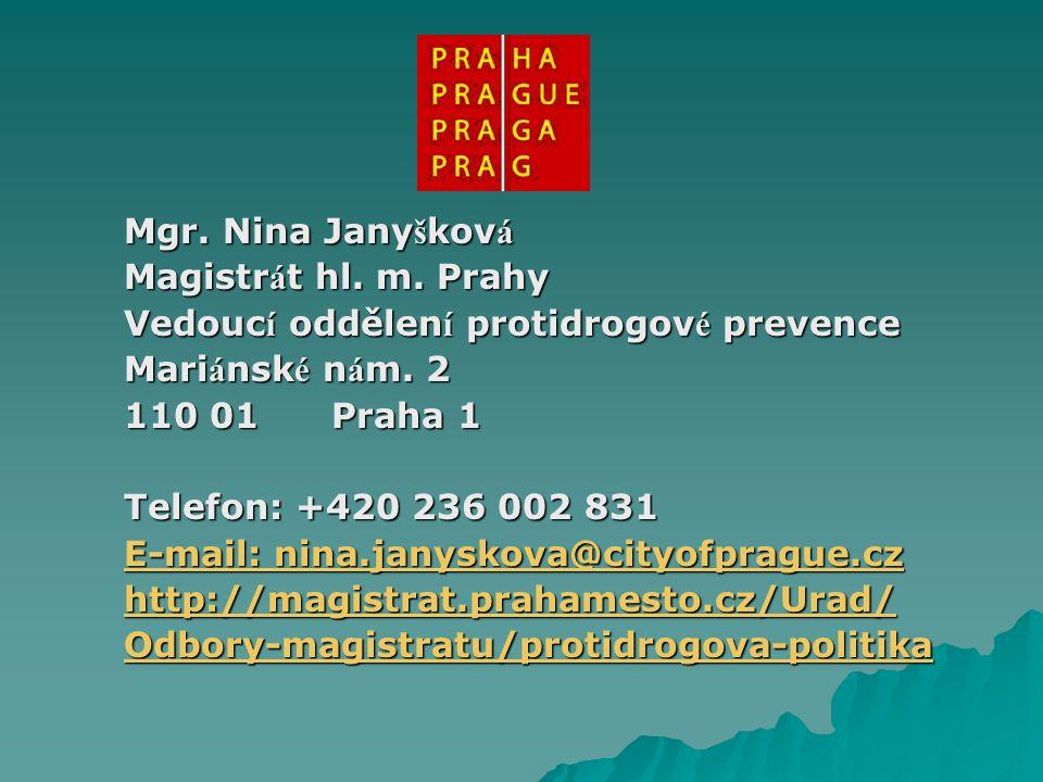Mgr. Nina Jany š kov á Magistr á t hl. m.