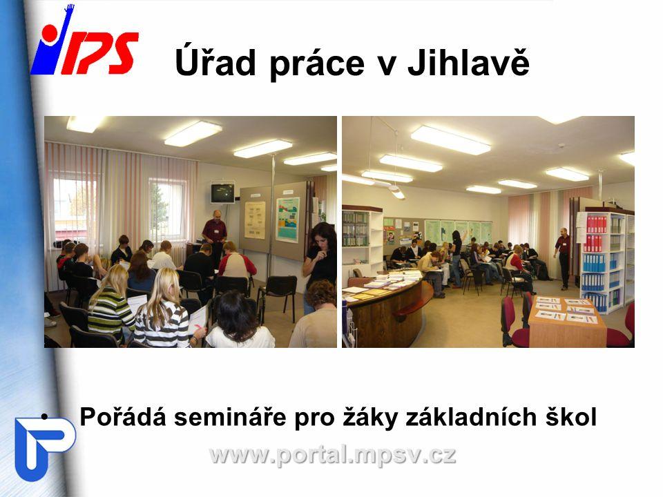 Úřad práce v Jihlavě Pořádá semináře pro žáky základních školwww.portal.mpsv.cz